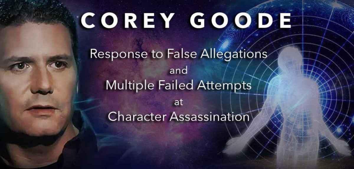 """Déclaration publique de Corey Goode : """"RÉPONSE AUX FAUSSES ALLÉGATIONS ET AUX MULTIPLES TENTATIVES INFRUCTUEUSES D'ASSASSINAT DE PERSONNES"""""""