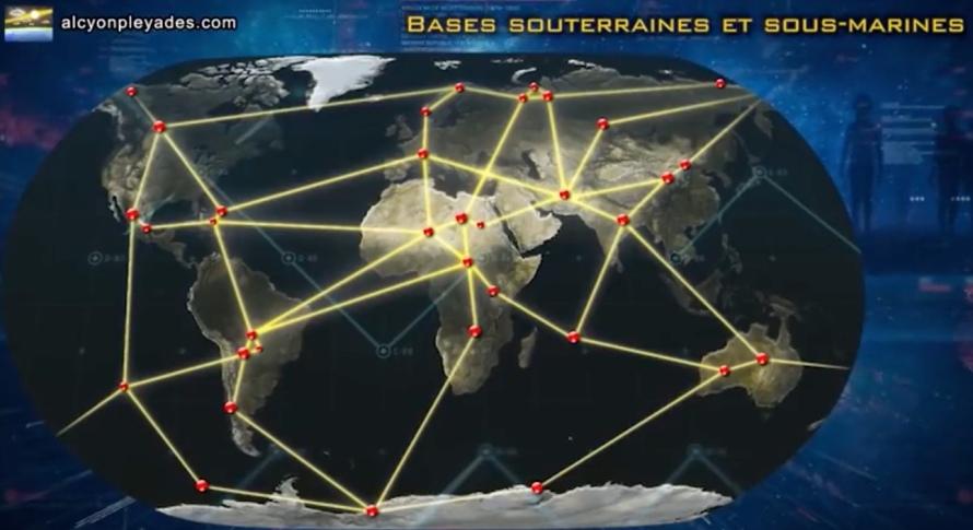 bases souterraines dans le monde