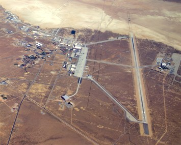 Overhead view is displayed for Edwards Air Force Base, Calif. -- main base area. (U.S. Air Force photo)