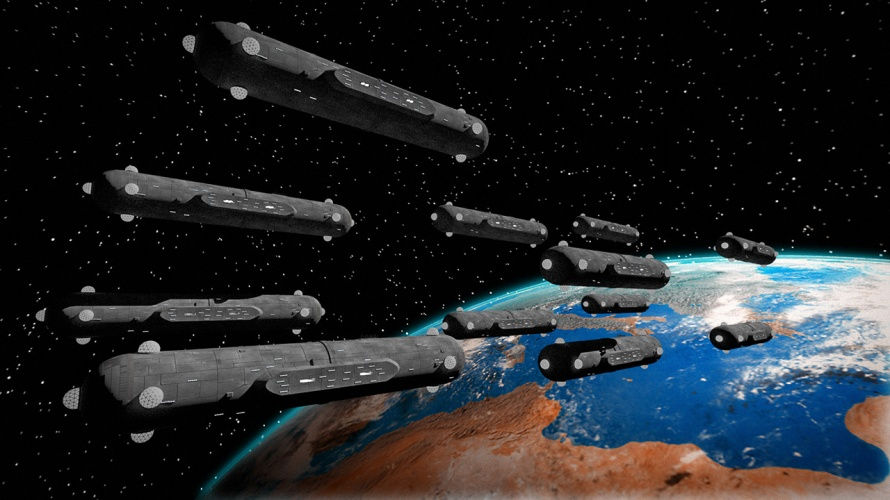 Secret space program - space fleet cigar shaped UFOs