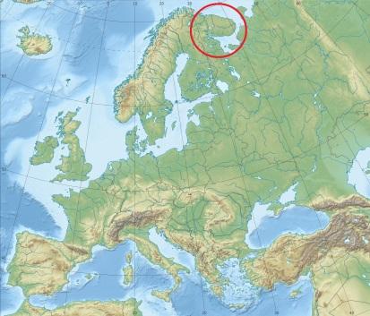 Situation géographique de la péninsule Russe